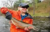 Steelhead on fly rod